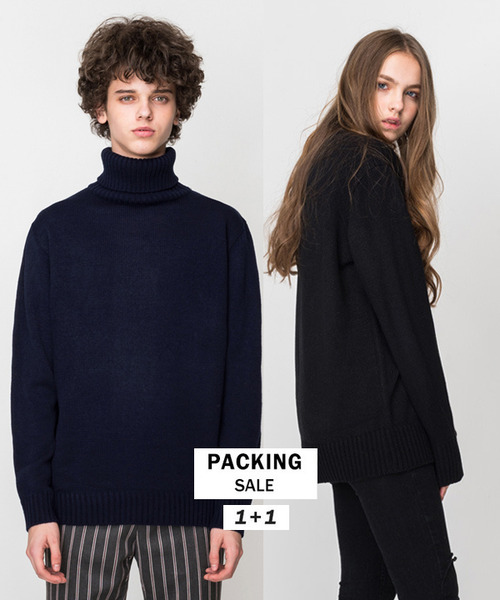 [1+1] Basic Round Knit #1 + Basic Turtleneck Knit #1