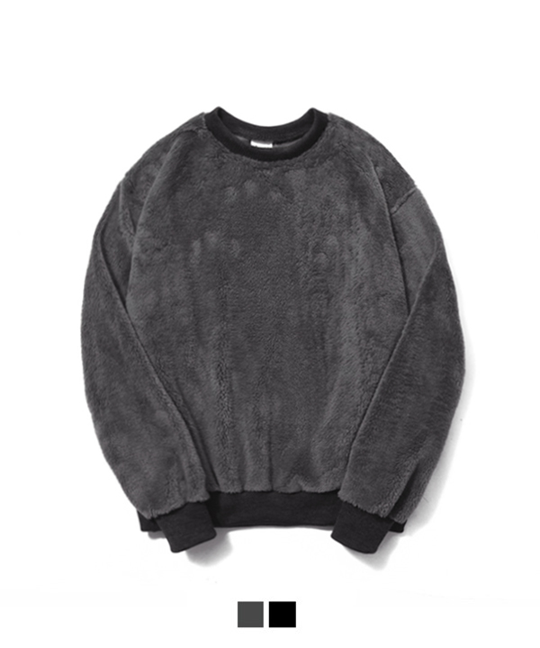 Pile Lined Series Sweatshirt Charcoal