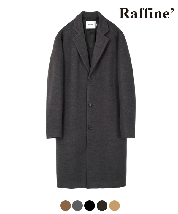 HEAVY WOOL BLEND SINGLE COAT CHARCOAL