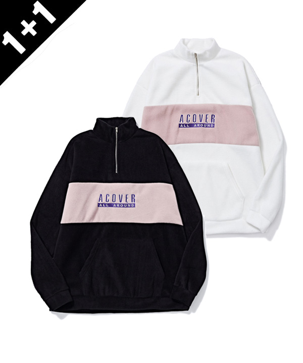 [1+1] ACOVER FLEECE HALF ZIP UP