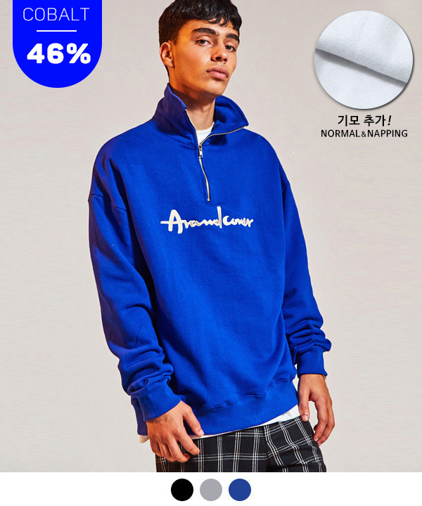 HALF ZIP UP SWEATSHIRT