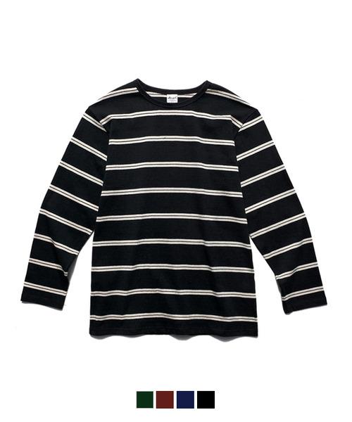 White Stripe Long Sleeve T-Shirt Black