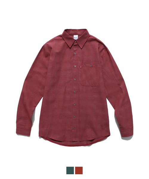 Graph Check Shirt Red
