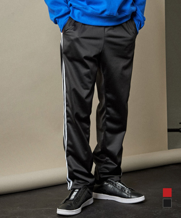 Twin Line Banding Track Pants Black