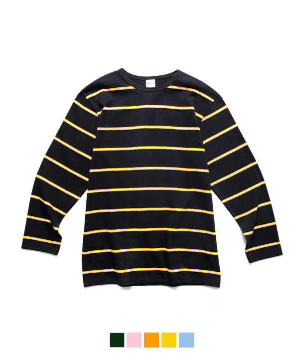 Narrow Stripe Long Sleeve T-Shirt Black/Yellow