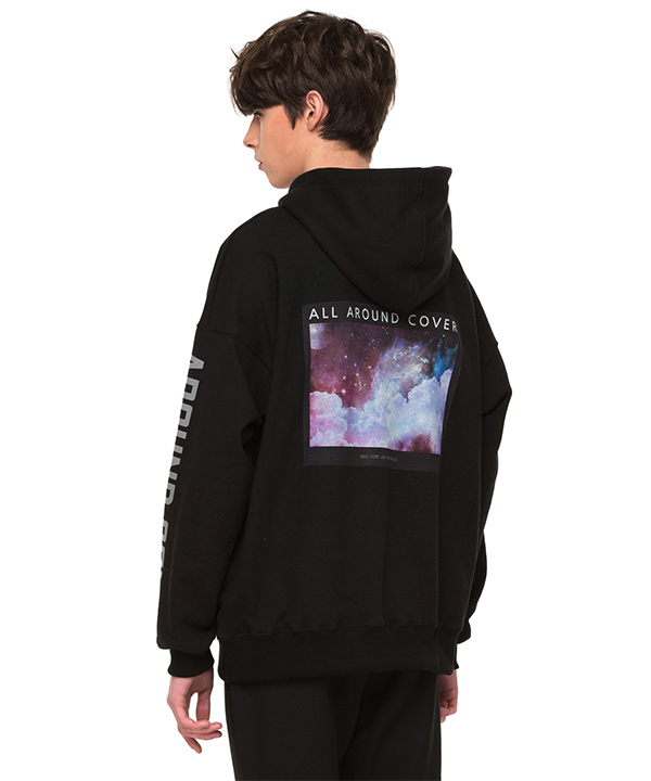 REFLECTIVE DROP SHOULDER HOODIE BLACK