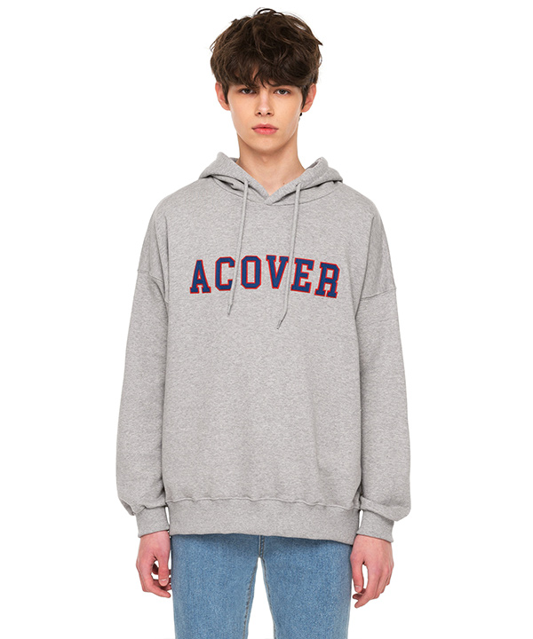 COLLEGE LOGO HOODIE GRAY