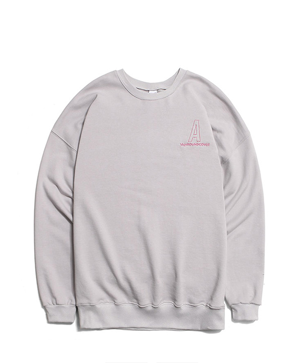 NEEDLEPOINT A LOGO SWEATSHIRTS FOG GRAY