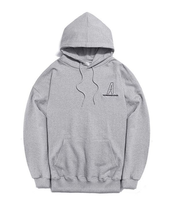 NEEDLEPOINT A LOGO HOODIE GRAY