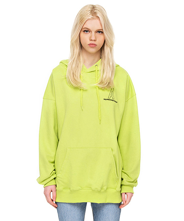 NEEDLEPOINT A LOGO HOODIE HIGH LIGHT YELLOW