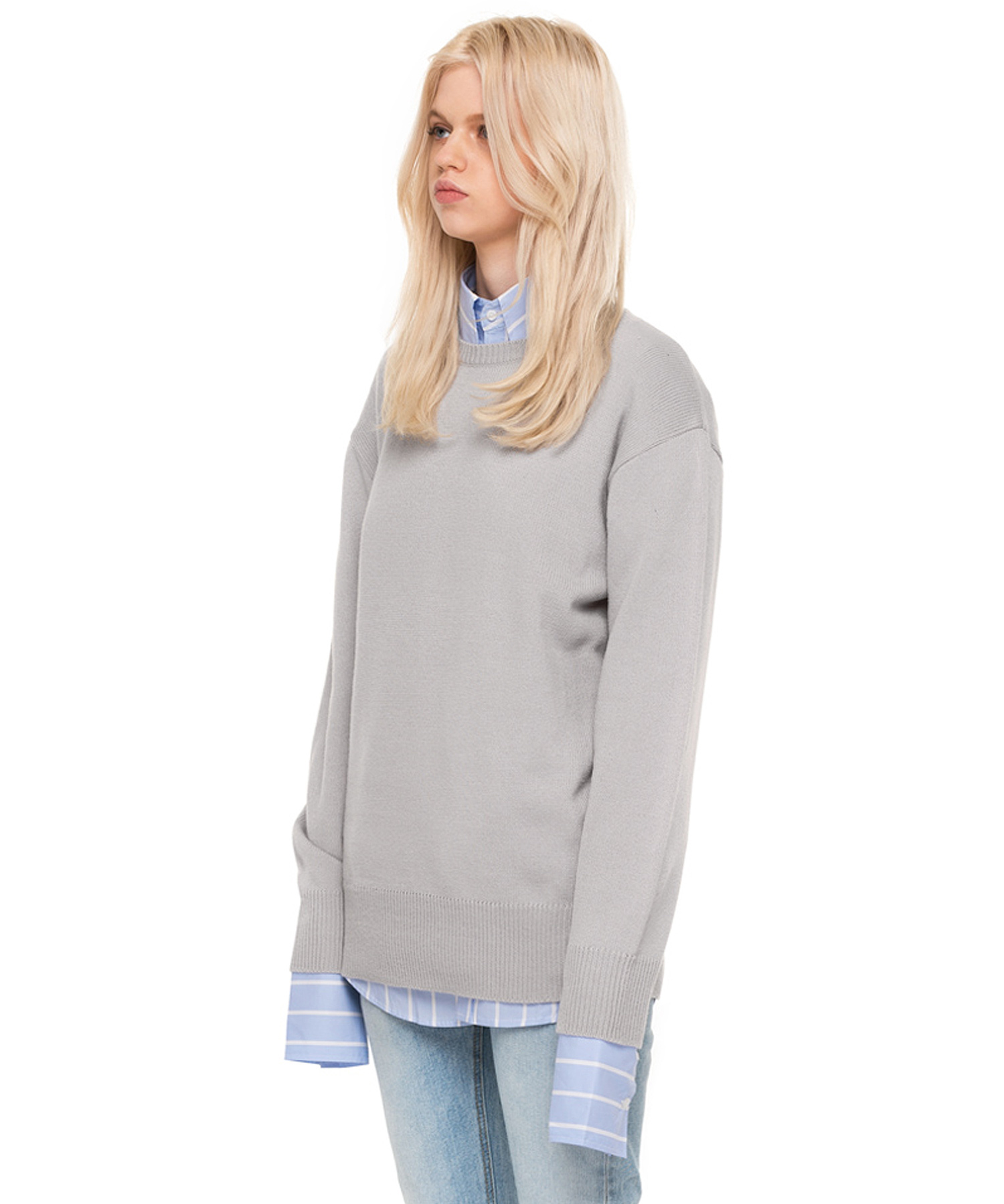 PASTEL KNIT FOG GRAY