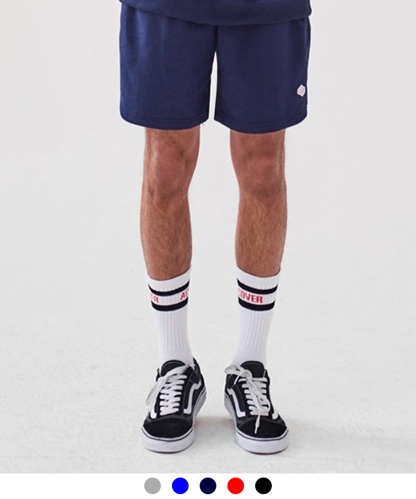 [4월3일예약배송] WAPPEN BASIC SWEAT SHORTS