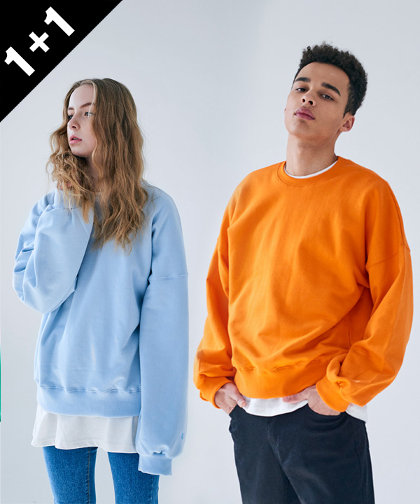 [1+1] COLORFUL S BASIC SWEATSHIRT