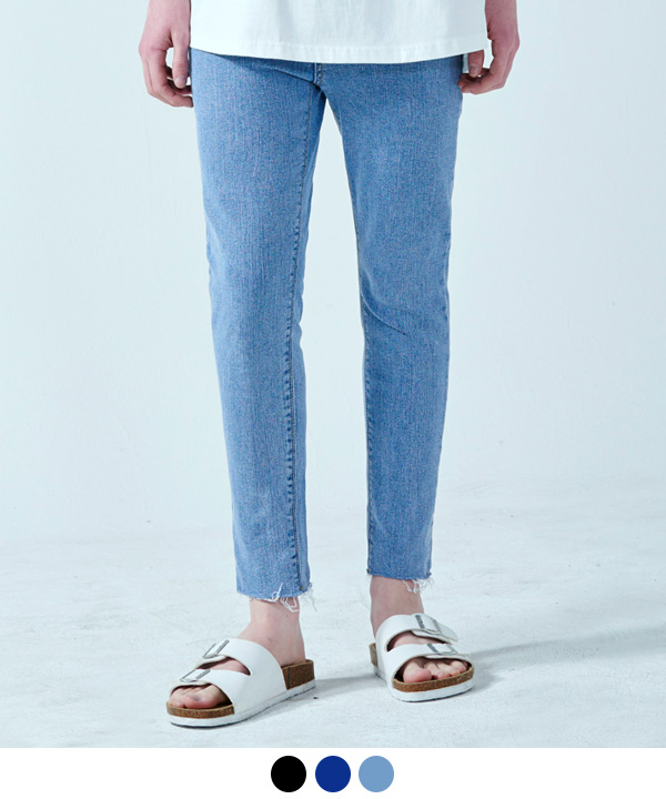 BASIC VINTAGE WASHED JEANS LIGHT BLUE