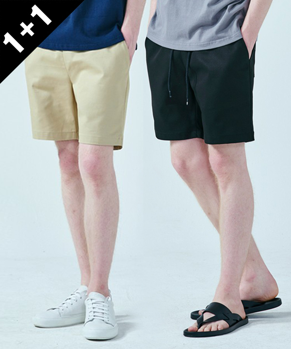 [1+1] 14S SUMMER COTTON SHORTS