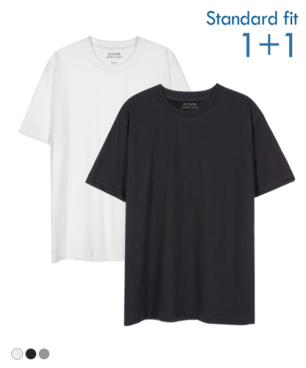[1+1] COOL BASIC T-SHIRTS