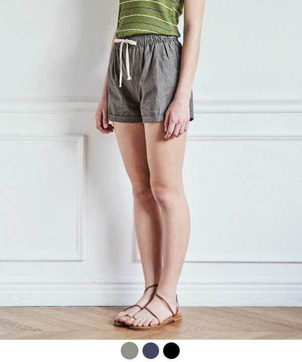 COOL LINNEN BANDING SHORTS
