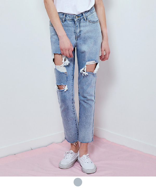 WASHED OUT DENIM PANTS