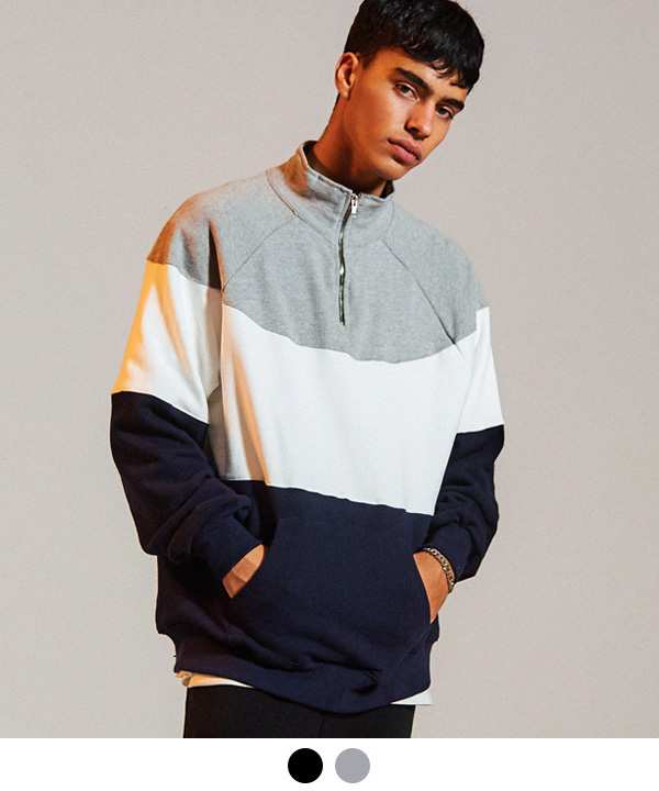 2ND 90S HALF ZIP-UP SWEATSHIRT