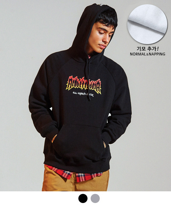 [9월28일 예약배송] BURN PRINTING OVER FIT TUMBLE HOODIE