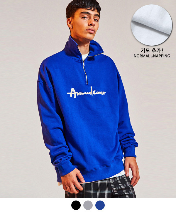 [9월25일 예약배송] HALF ZIP UP SWEATSHIRT