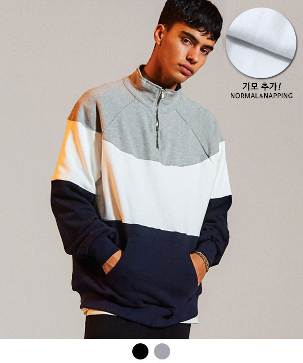 [9월25일 예약배송] 90S HALF ZIP-UP SWEATSHIRT