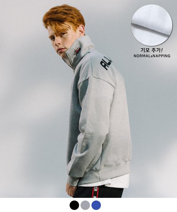 [11월27일 예약발송] HIDE LOGO HALF ZIP UP