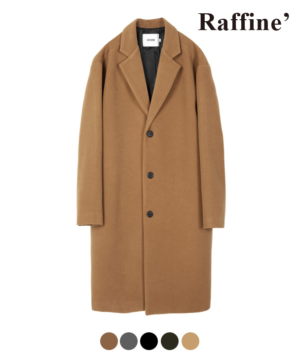 [1월22일 예약발송]HEAVY WOOL BLEND SINGLE COAT BEIGE