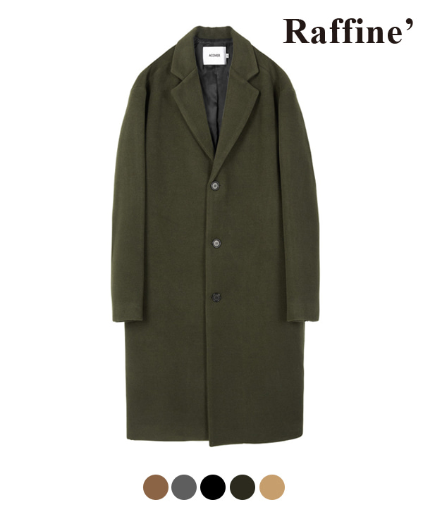HEAVY WOOL BLEND SINGLE COAT KHAKI
