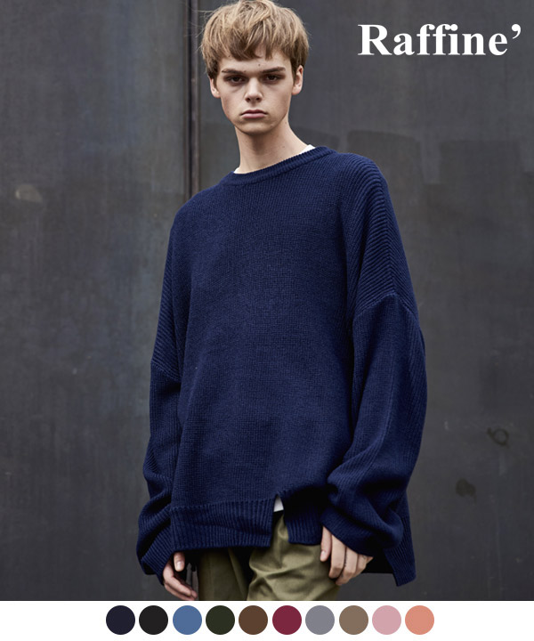 VENT LONG CREWNECK SWEATER