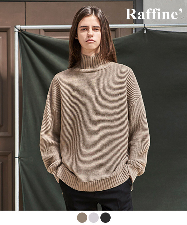 LATERAL TURTLENECK SWEATER