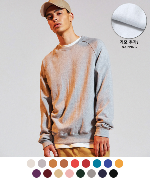 (기모)NEW 650g TUMBLE NAPPING SWEATSHIRTS