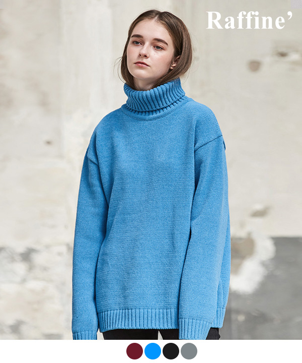 TOWEL TURTLENECK SWEATER
