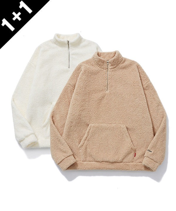 [1+1] HALF ZIP UP SILKY FLEECE