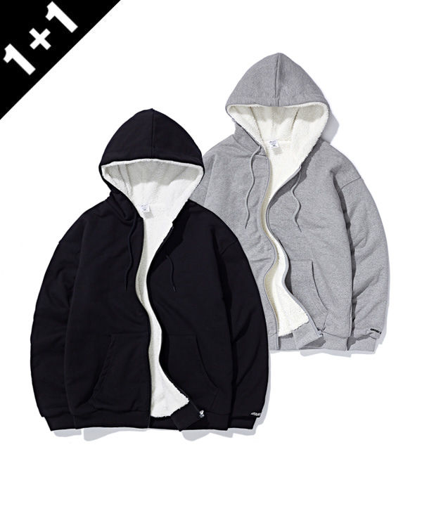 [12월20일 예약발송][1+1] BOA SWEAT HOODIE ZIP UP