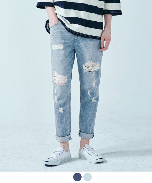 Damage Washed Denim