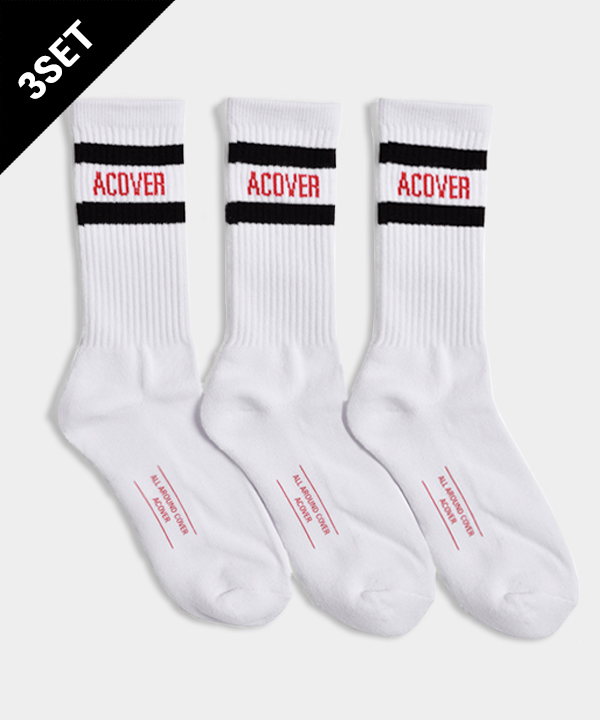 [3월30일 예약발송][3SET]UNISEX ACOVER STRIPE SOCKS