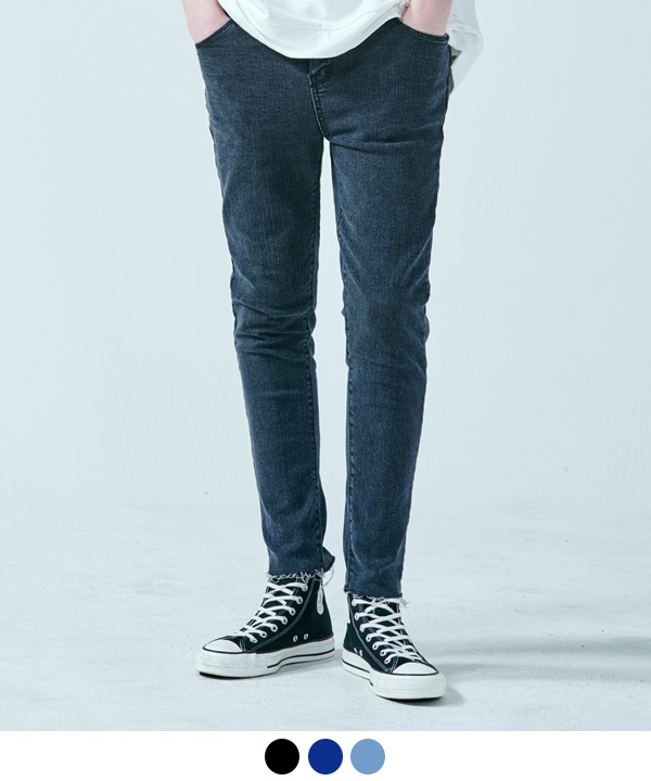 BASIC VINTAGE WASHED JEANS BLACK
