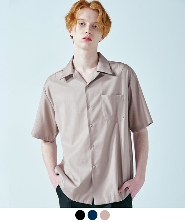OPEN COLLAR HALF SHIRTS