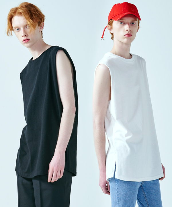 [1+1] LINE SLEEVE T-SHIRT