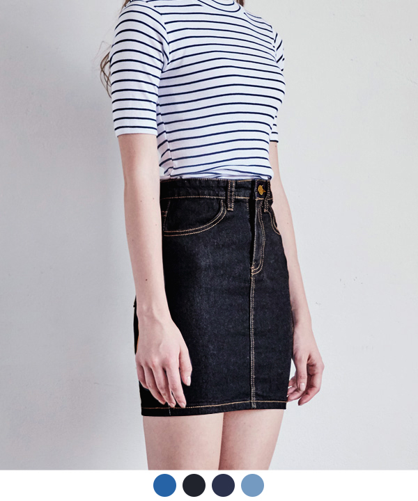 H-LINE DENIM SKIRT