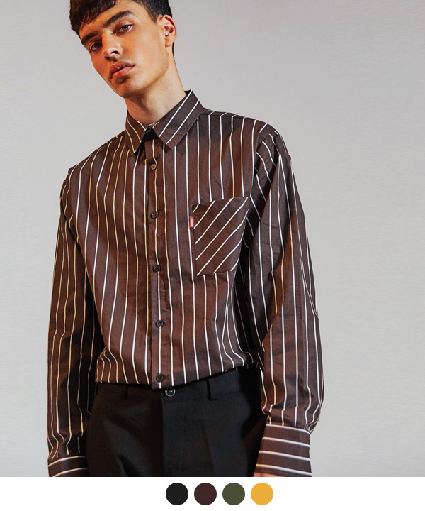 PIN POINT STRIPE SHIRTS