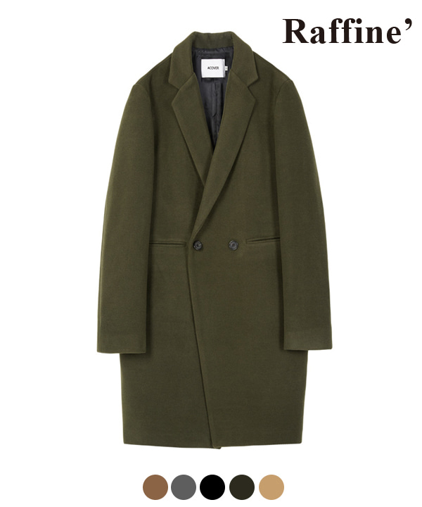 HEAVY WOOL BLEND DOUBLE COAT KHAKI