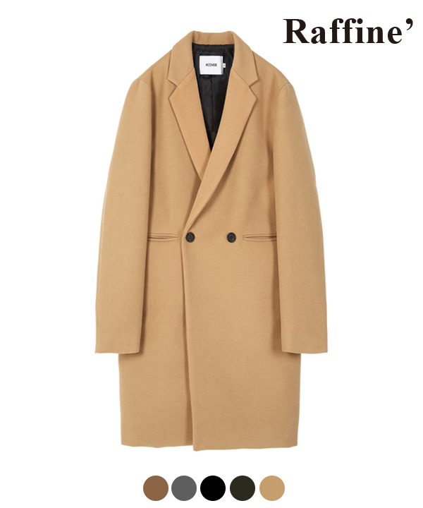 HEAVY WOOL BLEND DOUBLE COAT LIGHT BEIGE