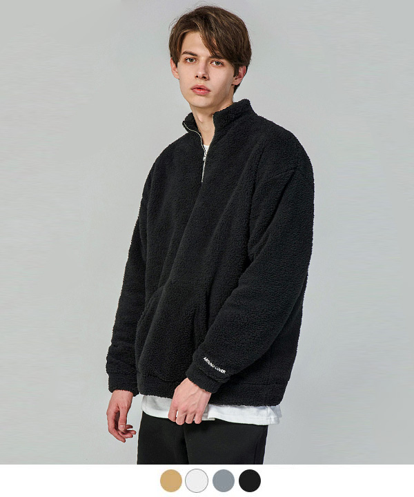 HALF ZIP UP SILKY FLEECE