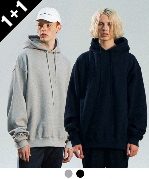 [3월21일 예약발송][1+1][기모]1200g OVER TUMBLE NAPPING HOODIE